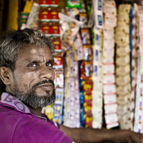 Shopkeeper, Mumbai by Satheesh Nair (ifotoman)) on 500px.com