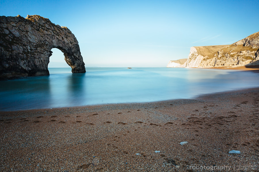 In the shadows of Durdle Door