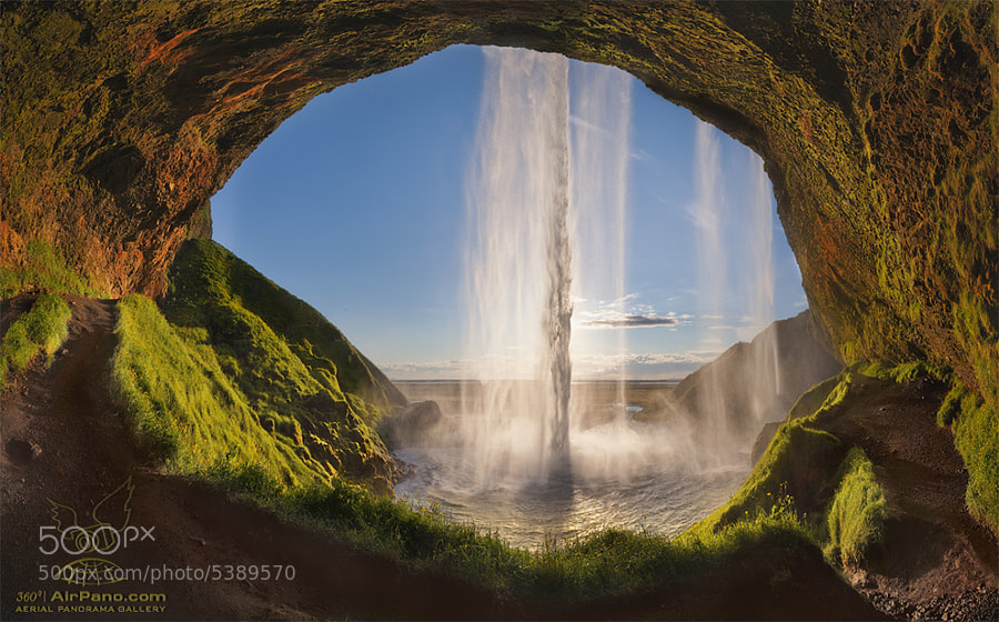 Photograph Seljalandsfoss from Inside by Mike Reyfman on 500px