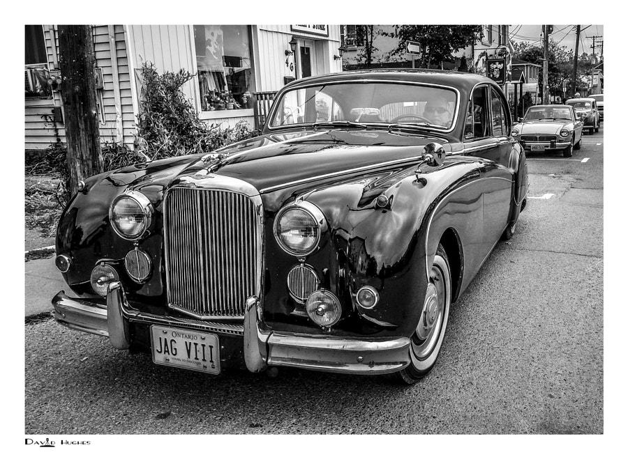 1957 Jaguar VIII-bw