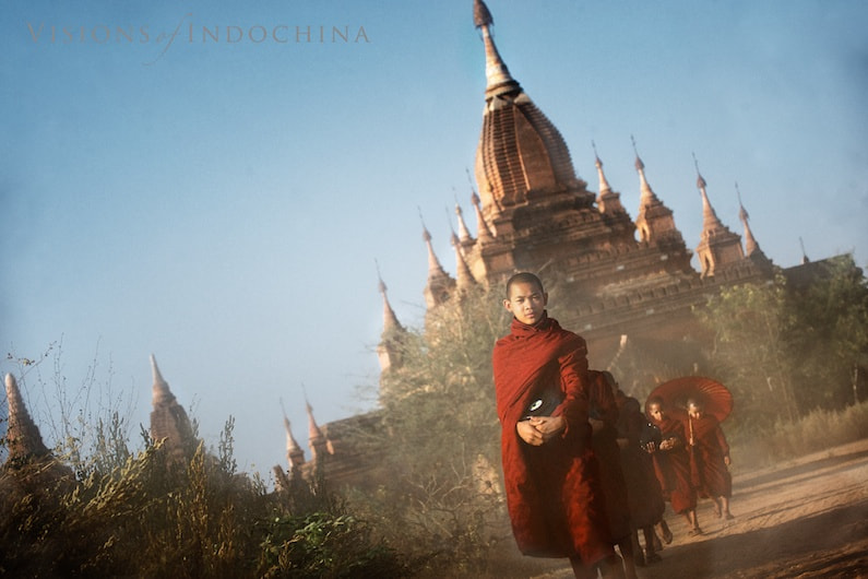 Photograph Alms collection at Bagan by Visions of Indochina on 500px