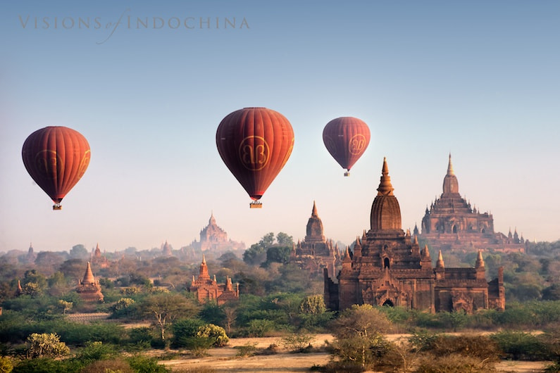 Photograph Balloons over Bagan by Visions of Indochina on 500px
