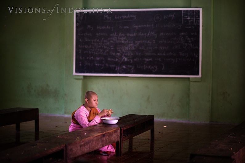 Photograph A young Buddhist nun in class by Visions of Indochina on 500px