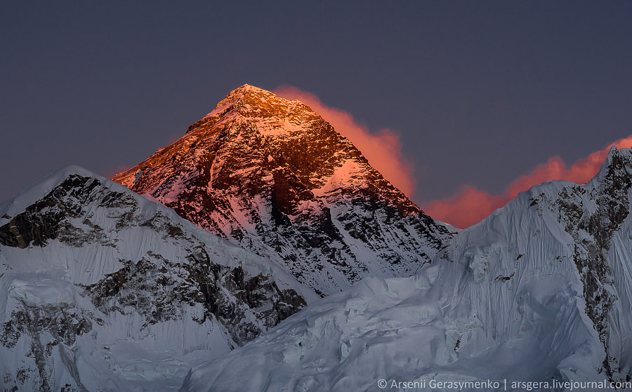 Burning Everest Mt. Peak (8848 m) by Arsenii Gerasymenko on 500px.com