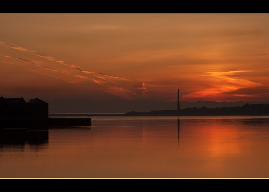 Sunrise shot from the Old Bridge In Berwick-upon-Tweed whilst walking to work one morning (and yes I was a bit late!) Handheld, no filters.