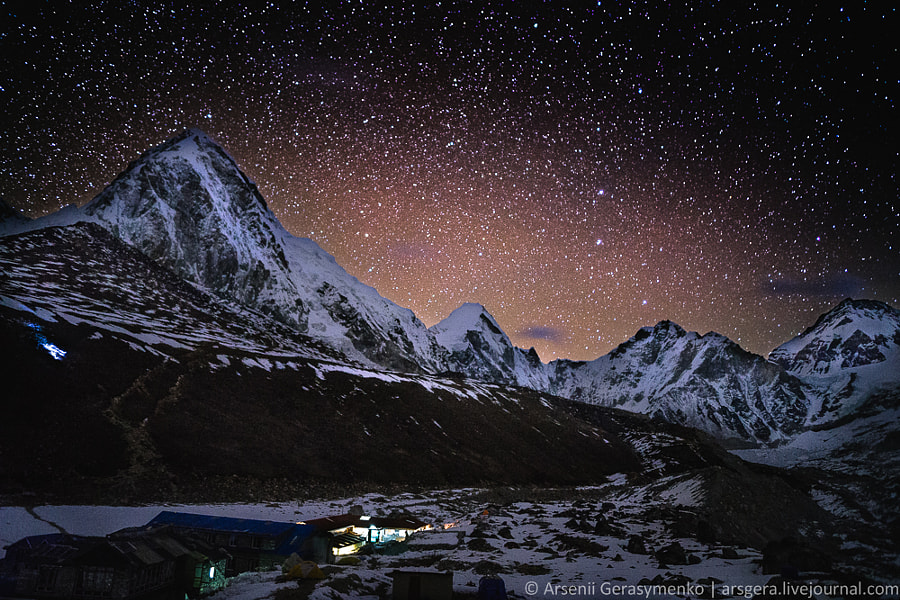 Starry sky over Top of the World: Himalaya by Arsenii Gerasymenko on 500px.com