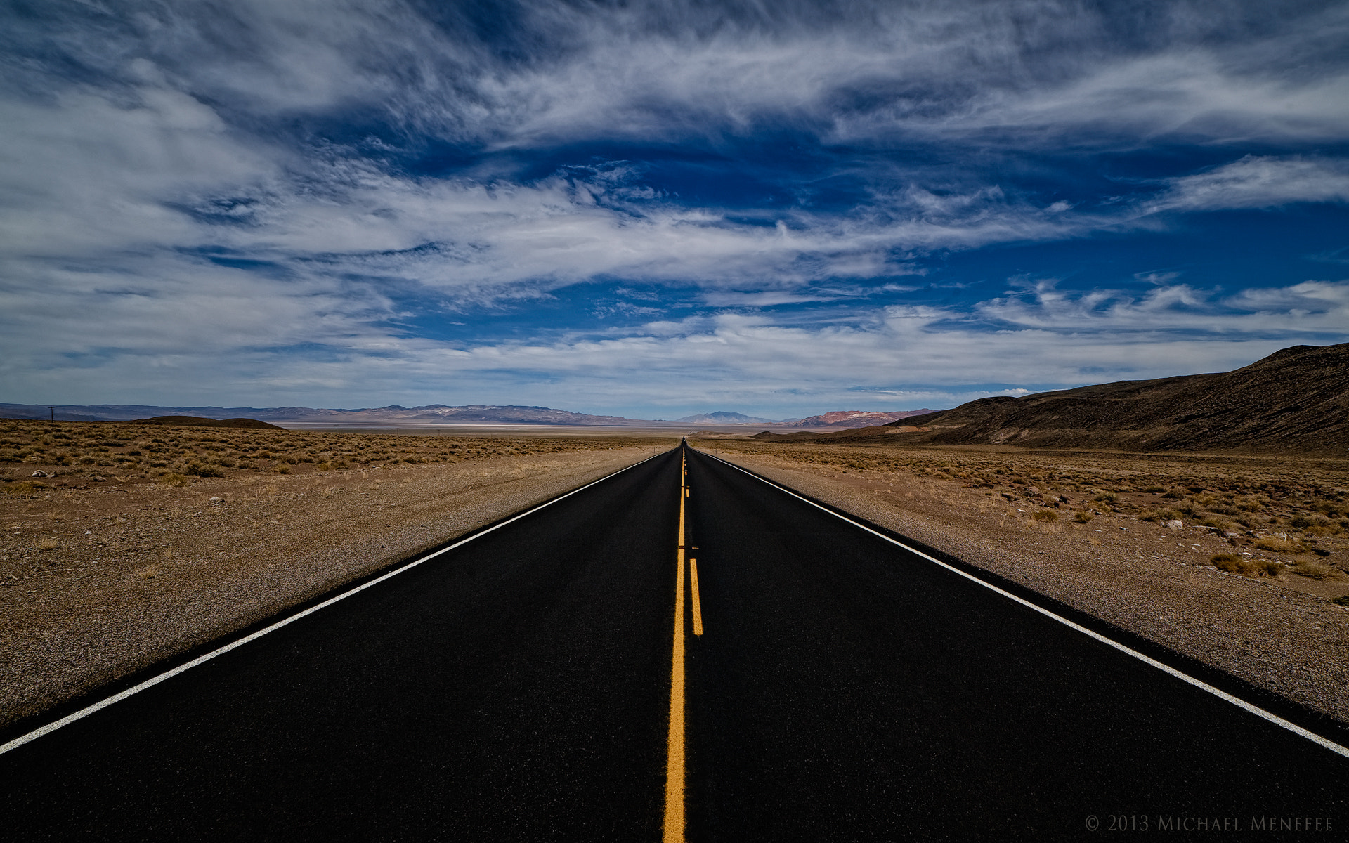 Photograph Vanishing into Nevada's Basin and Range Country by Michael Menefee on 500px