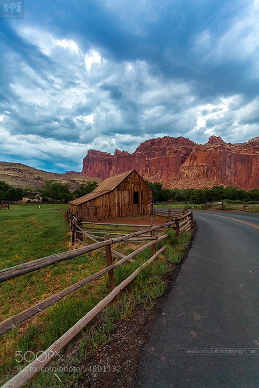 Barn by The Road! by Nhut Pham