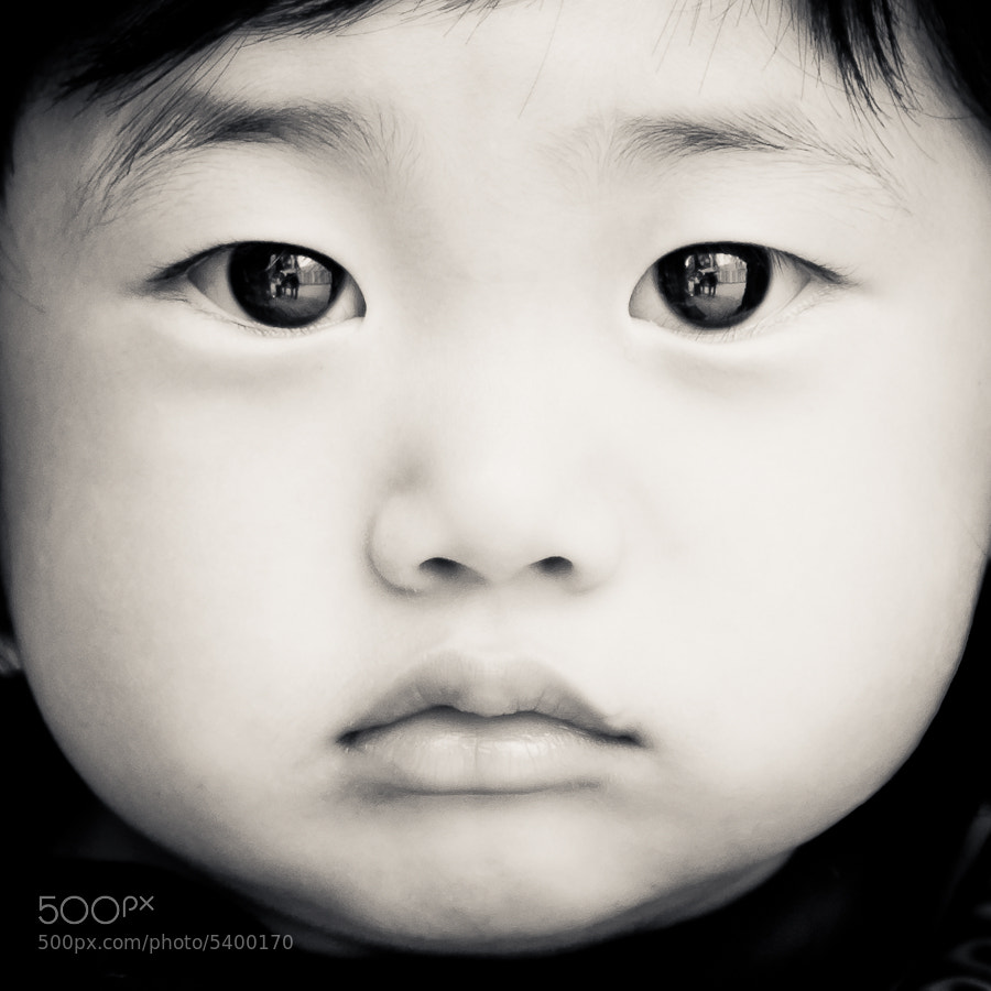 Photograph Baby Face B/W by Adam Shul on 500px