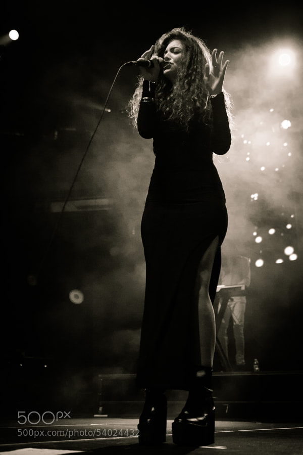 Photograph Lorde at Key Arena by John Lill on 500px