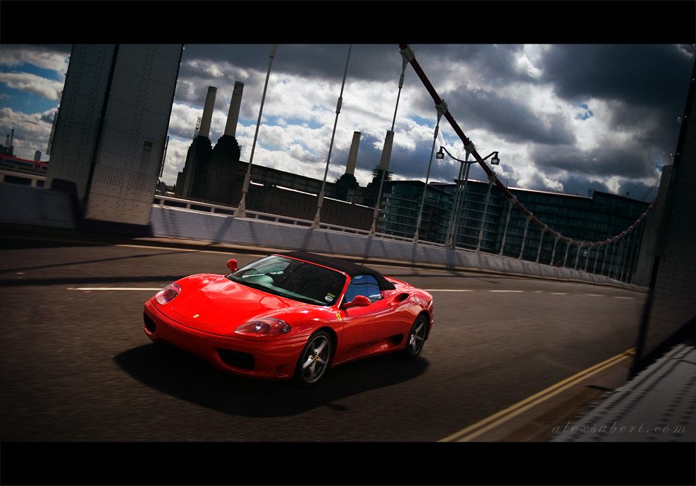 Photograph Ferrari F360 Over Chelsea Bridge by alex saberi on 500px
