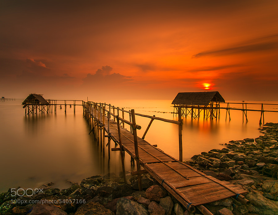 Sunset at Tanjung Kait, West Java by Fairawati Bagdja