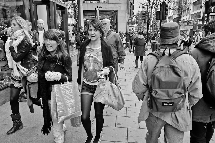 Photograph Shoppers - Oxford Street, London by Byron Edwards on 500px