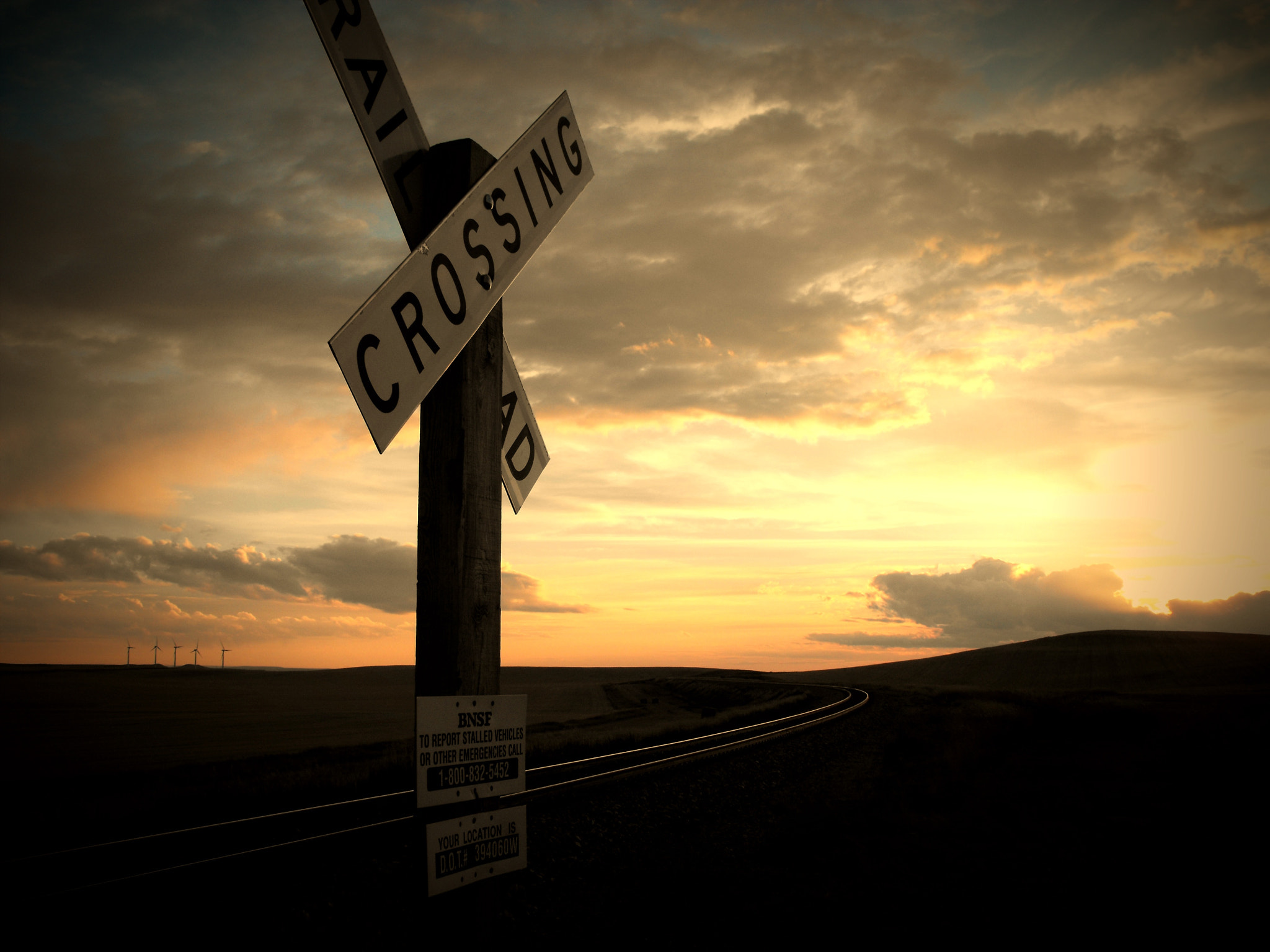 Photograph Railroad Crossing by Nicholas Johnson on 500px