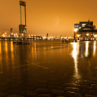 Постер, плакат: Hamburg Harbour Flood due to the Storm Xaver