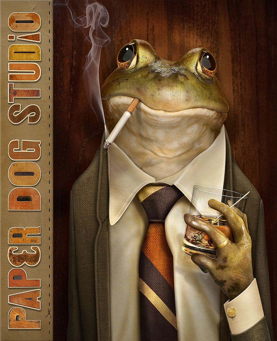 Photograph Frog Boss by PaperDogStudio on 500px