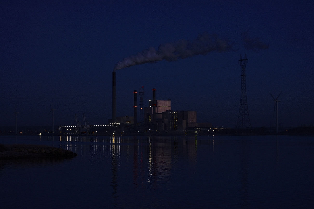 Photograph power plant before sunrise time by Brian Knudsen on 500px