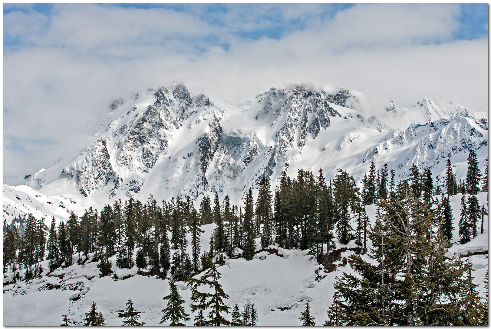 Photograph Mt. Shuksan Winter by Jameel Hyder on 500px