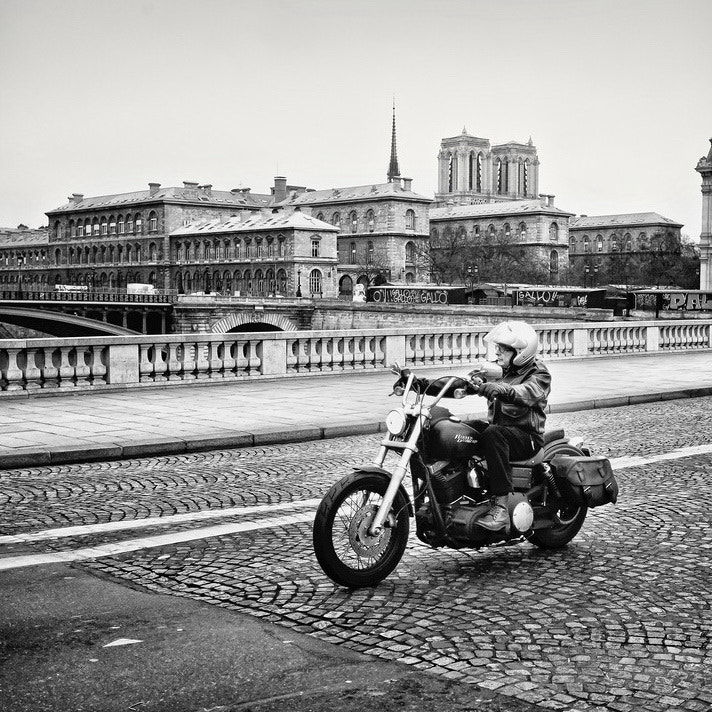 Photograph The Biker from the City Island by Laurent DUFOUR on 500px