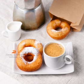 donuts and coffee by Natalia Lisovskaya (l-i-s-k-a)) on 500px.com
