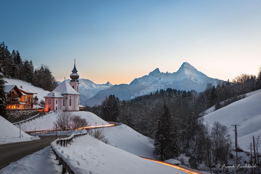 Maria Gern Church in Bavaria with Watzmann, Berchtesgaden, Germa by Frank Fischbach on 500px.com