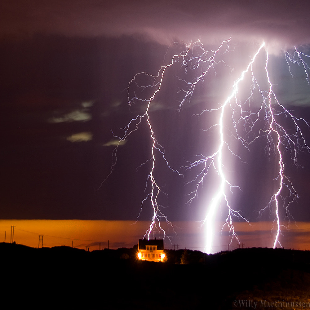 Photograph Lightning strikes by willy marthinussen on 500px