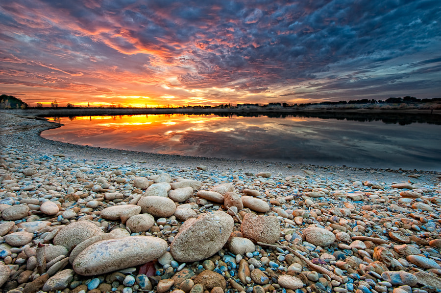 Photograph Sunset over  the lake by Xavier Farre on 500px