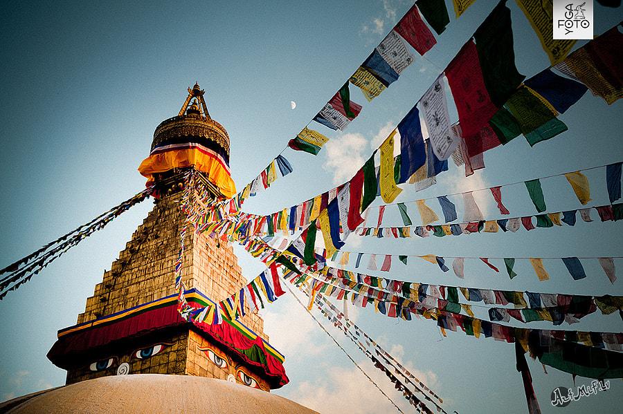 Tibetan Buddhist Prayer Flags stupa Boudnath by Raimond Klavins Artmif.lv on 500px.com