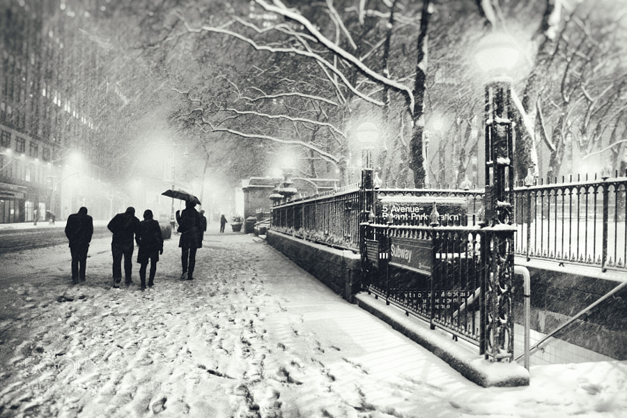 Photograph New York City - Snow on a Winter Night by Vivienne Gucwa on 500px