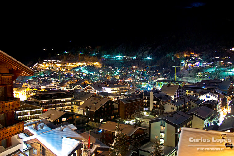 Photograph Zermatt by night by Carlos Lopes on 500px