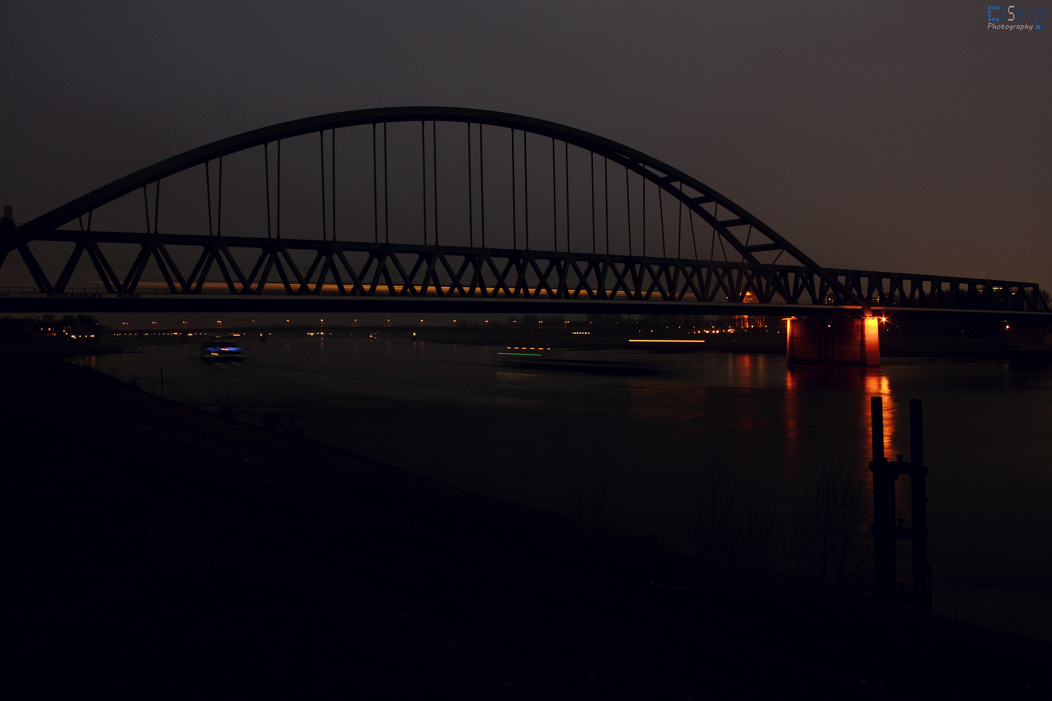 Photograph Duesseldorf Rhinebridge by Christian Stengel on 500px