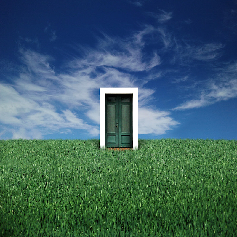 Photograph Green Door to a Surreal World by Carlos Gotay on 500px