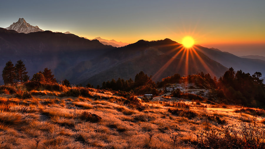 Poonhill sunrise by Brian Decrop on 500px.com