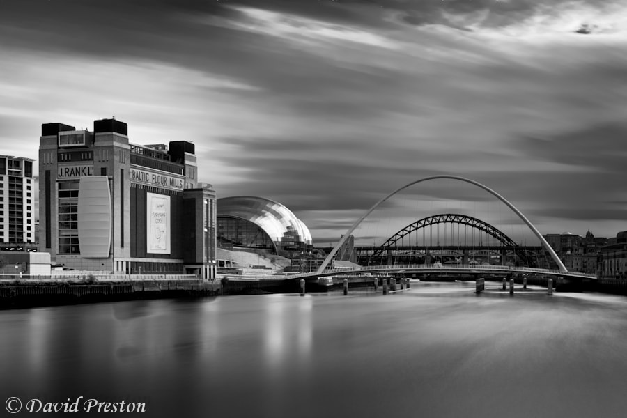 Photograph River Tyne bridges, Baltic Gallery and Sage by David Preston on 500px