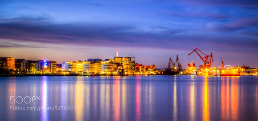 Göteborg Harbour By Night by Colin van der Bel (colinvdbel) on 500px.com