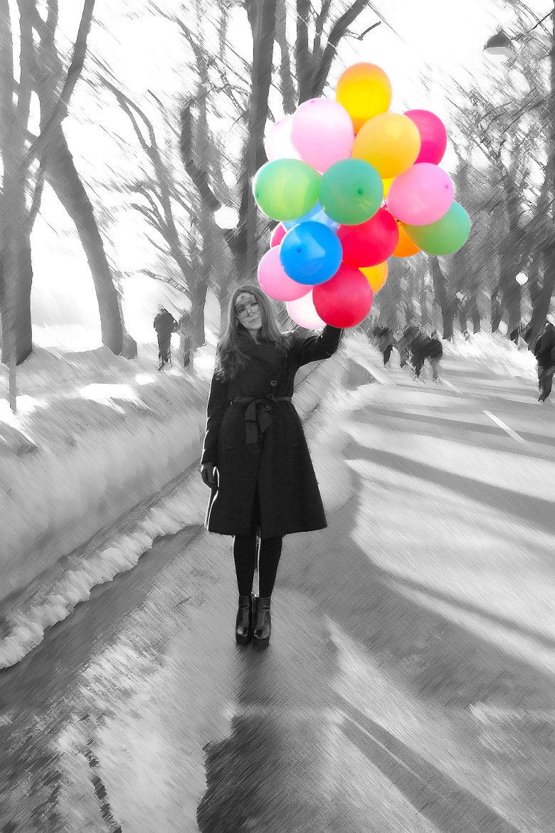 Photograph Girl with balloons by Adis Ganić on 500px