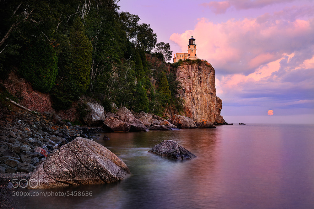 Photograph Split Rock Moonrise by Steve Perry on 500px