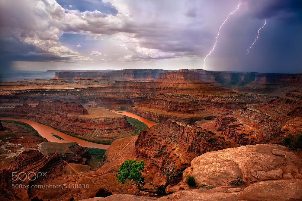 Photograph Dead Horse Point Lightning Strike by Steve Perry on 500px