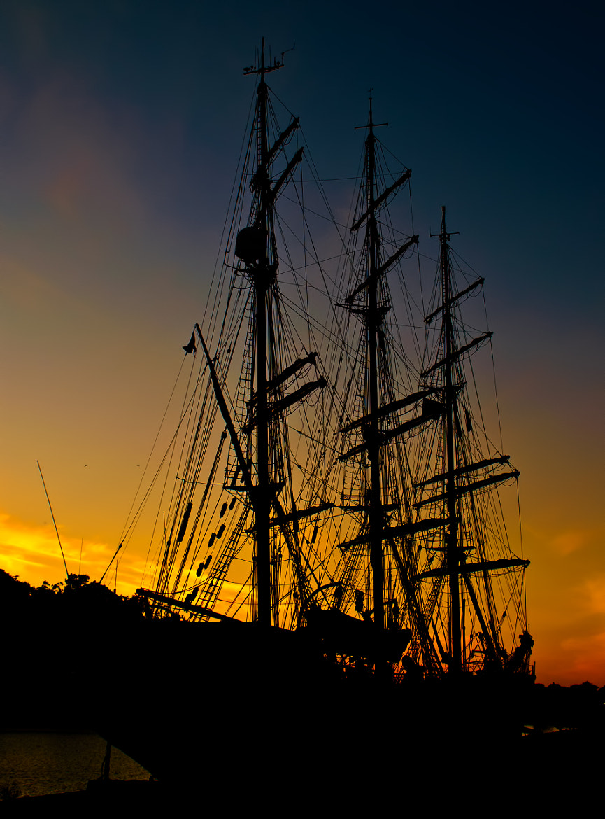Photograph Sunset at the harbour by Kent Rasmussen on 500px