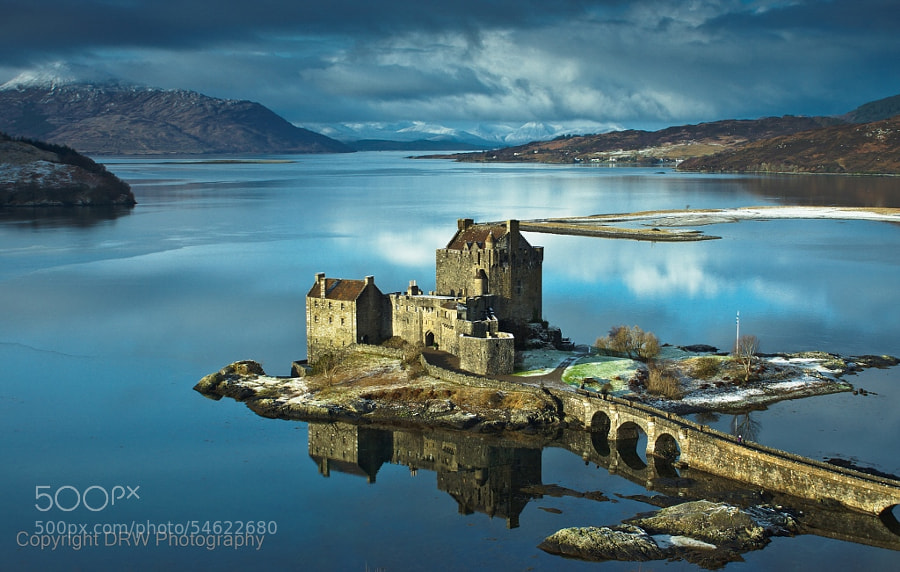 Winter calm at Eilean Donan by DRW Photography
