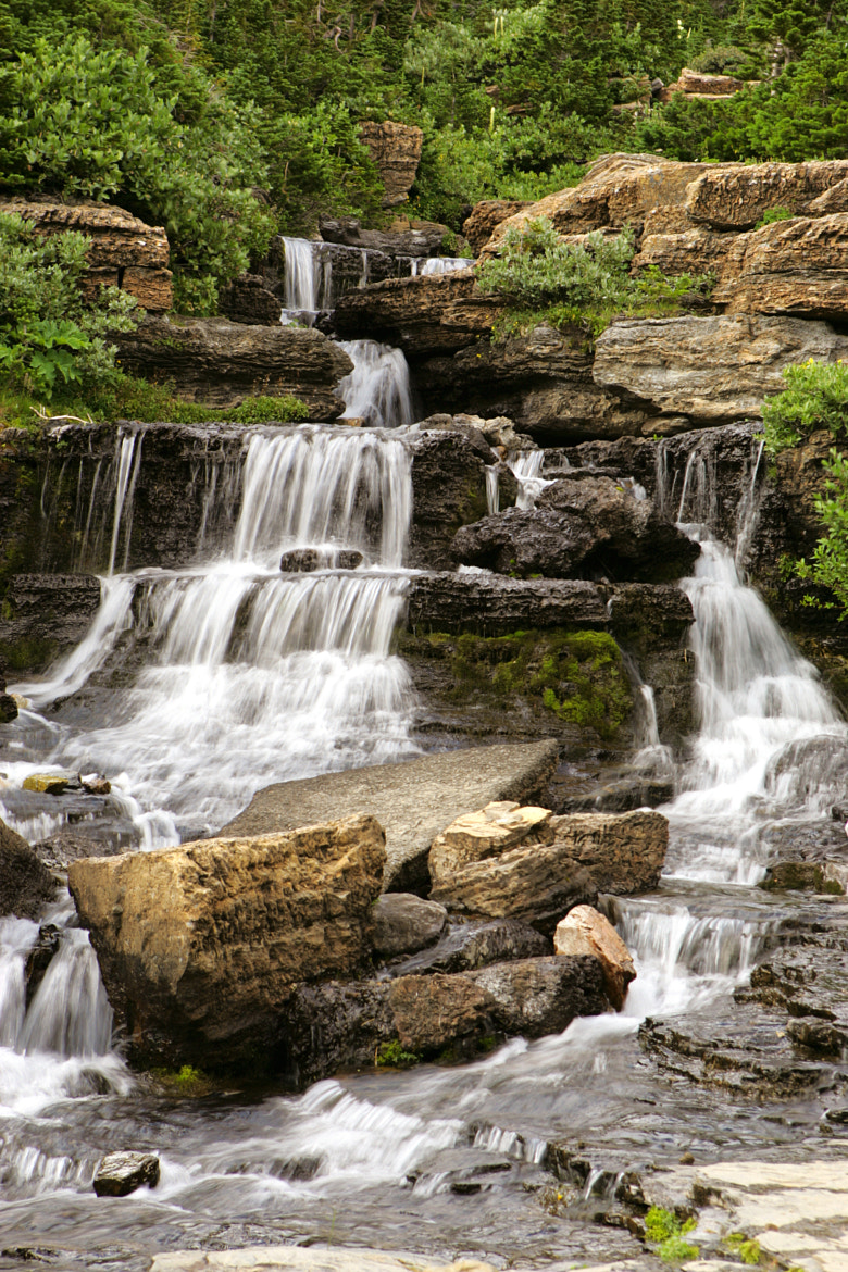 Photograph Glacier National Park Water Fall by Scott T.  Morrison on 500px