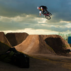 Christian Balmaceda with a 360 in the Dirt Jumps of Parque Sarmiento, Buenos Aires, Argentina.
