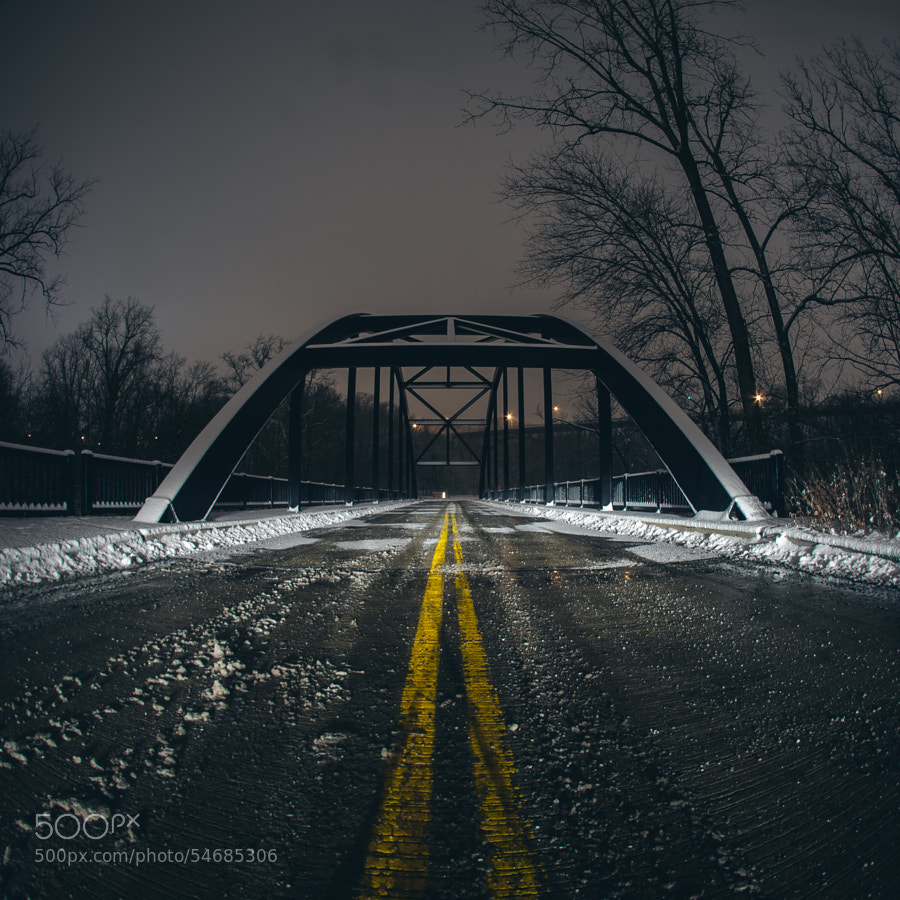 Photograph snowy bridge by Anthony Franchino on 500px