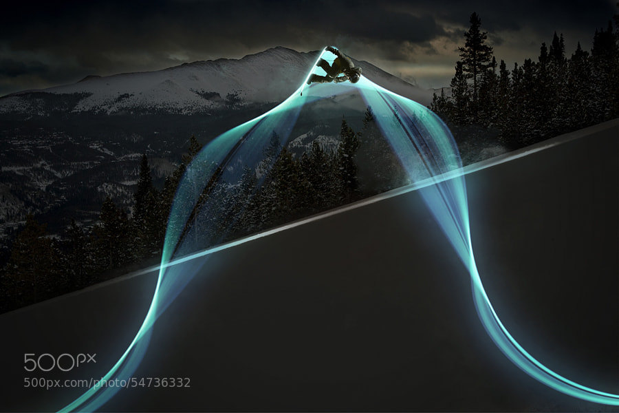 Photograph Light Trail #1 by Dave Lehl on 500px