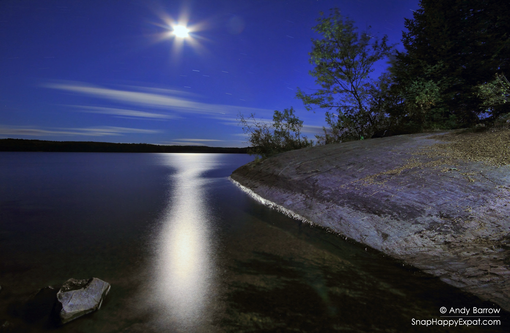 Photograph Moonset over the Lake by Andy Barrow (SnapHappyExpat) on 500px