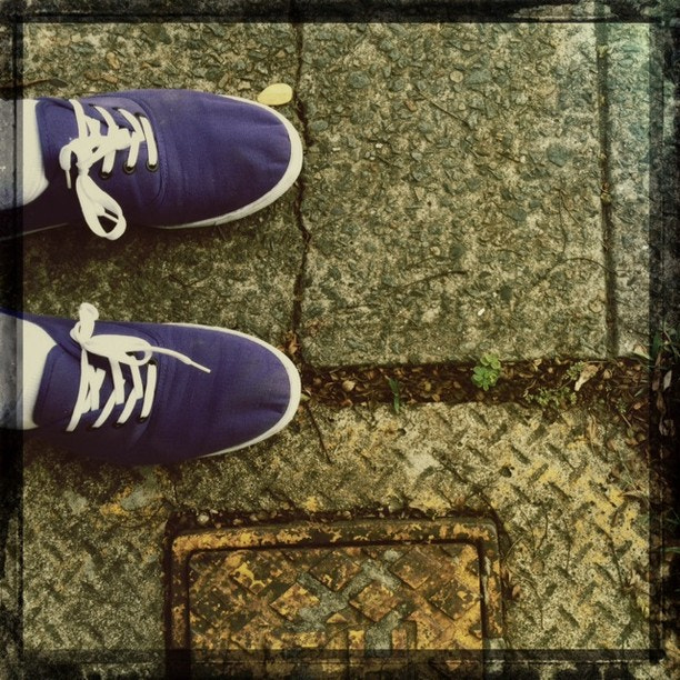 Photograph I bought some purple sand shoes from Kmart for $3. Seriously. Three dollars. #goldcoast #feet #Hipst by DJ Paine on 500px