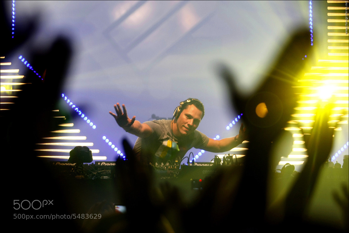 Photograph DJ Tiësto - ENERGY 2011 by Rutger Geerling on 500px