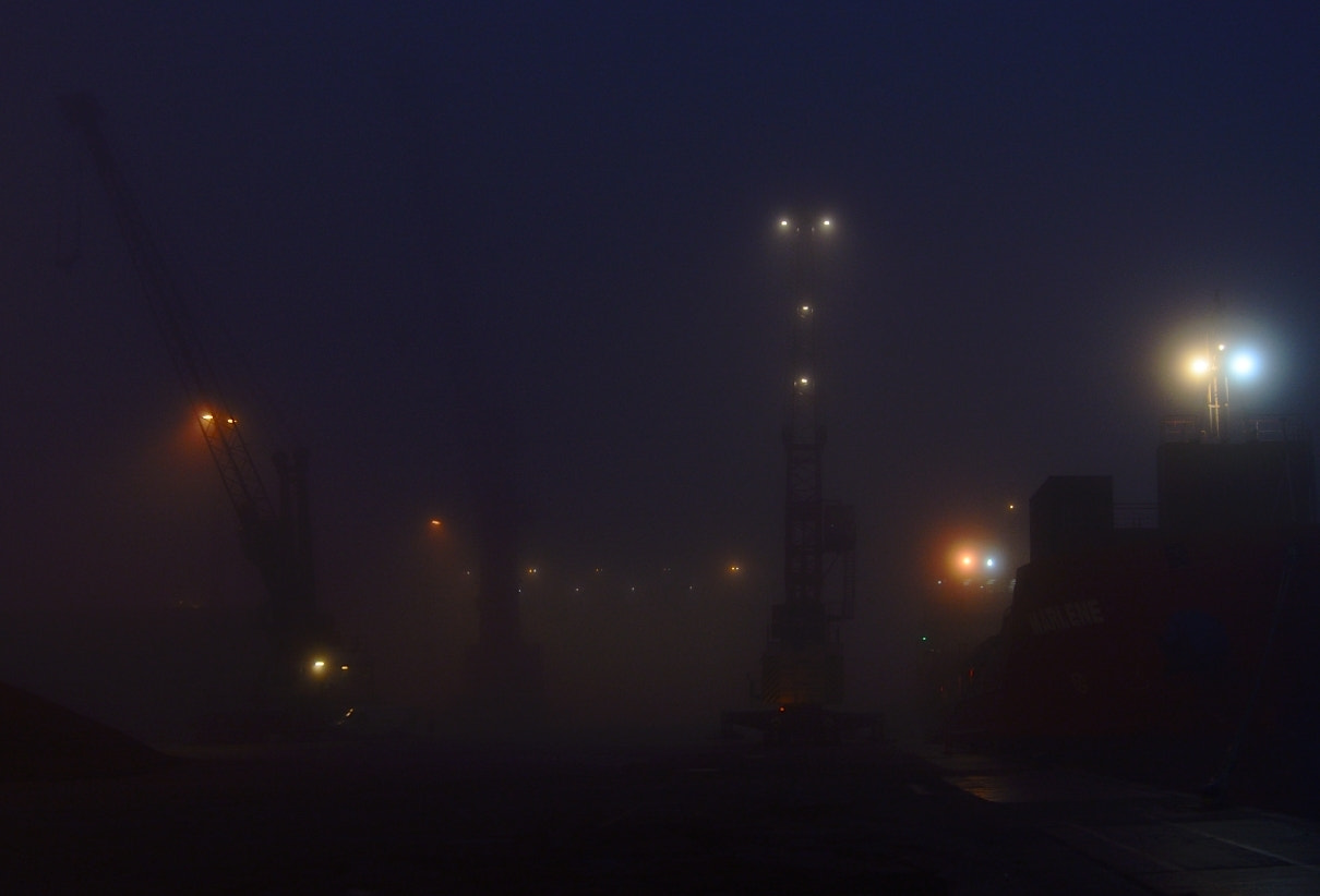 Photograph December fog at the port by Brian Knudsen on 500px
