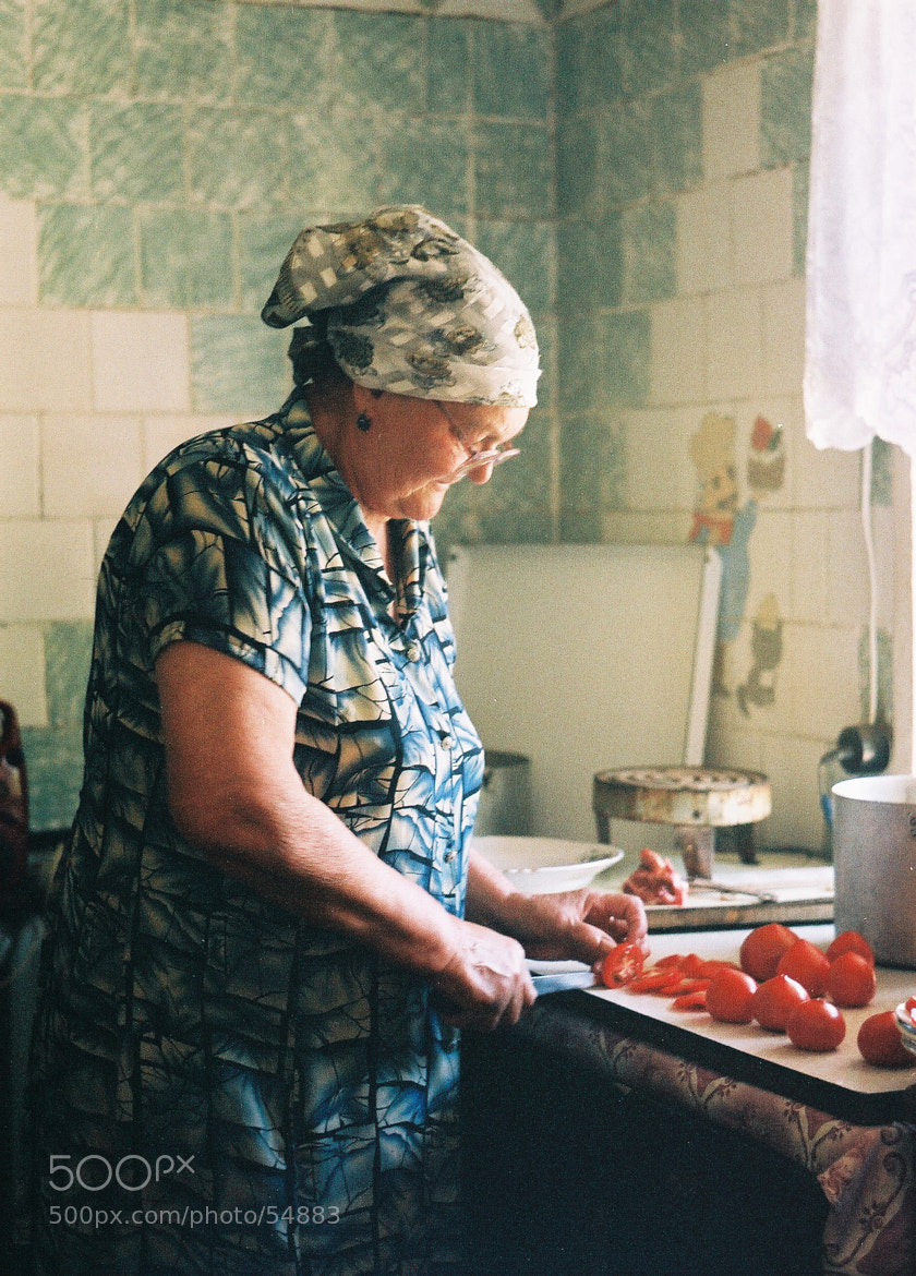 Photograph The grandmother and tomatoes by Alla Vavilova on 500px