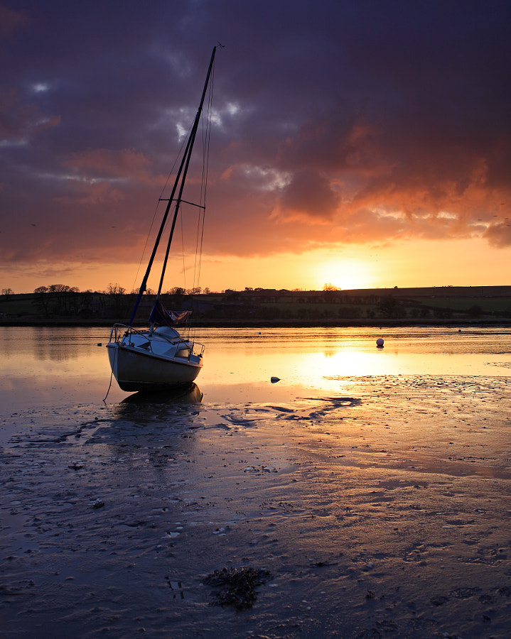 River Aln Sunset at Alnmouth